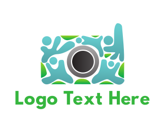 Crowd - Human Camera Crowd logo design