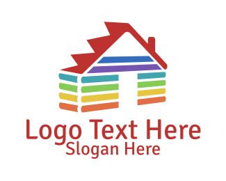 Shelter - Rainbow House logo design
