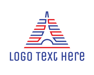 Eiffel - Abstract Lined Tower logo design