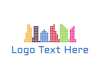 Bitmap - Colorful City logo design