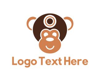 Helmet - Monkey Face logo design