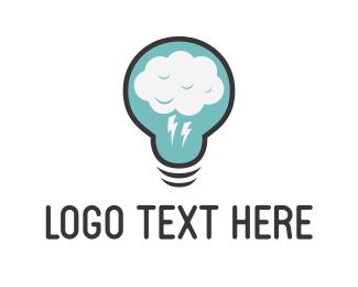 Storm - Cloud Idea logo design
