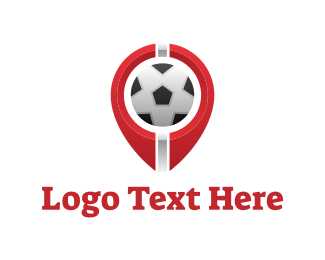 Football Player - Soccer Football Circle logo design