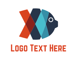 Pool - Ribbon Fish logo design