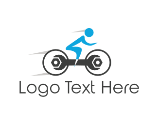 Handyman - Wrench Bike logo design