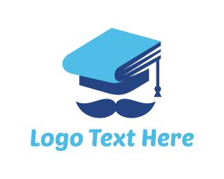 College - Graduation Hat logo design