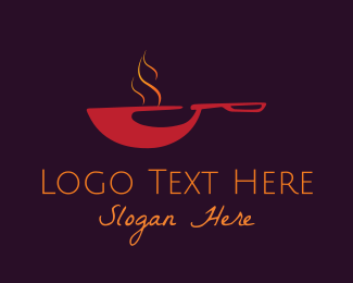 Pan - Red Pan logo design