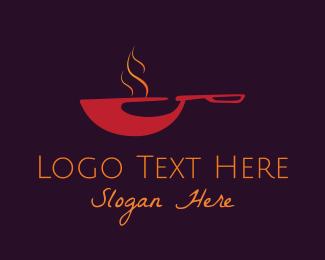 Pot - Red Pan logo design