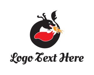 China - Black Dragon logo design
