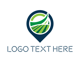 Land - Field Locator logo design