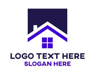 """""""Square Blue House"""" by eightyLOGOS"""