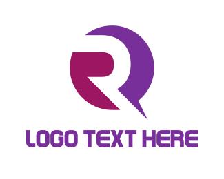 """""""Purple Modern Letter R"""" by wasih"""