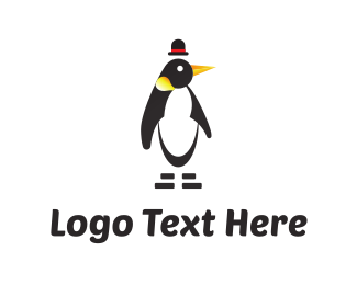 Antarctic - Penguin & Hat logo design