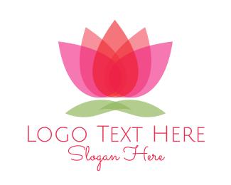 Bali - Gradient Flower logo design