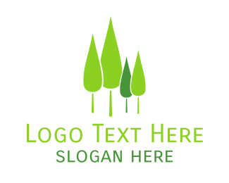 Land - Pine Tree Forest logo design