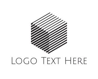 Hexagonal - Cube Shadow logo design