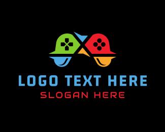 Arcade - Geek Controller logo design