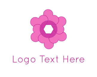 Instagram - Heart Flower logo design