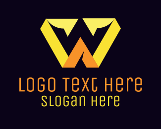 Yellow - W Yellow Crown  logo design
