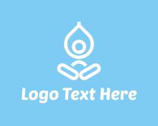Meditate - Yoga Drop logo design