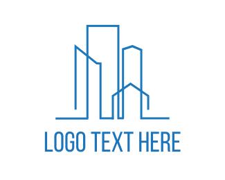Loan - Blue Skyline logo design