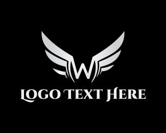 Letter W - Silver Letter W logo design