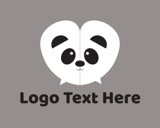 Panda - Panda Chat logo design