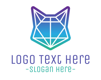 Professional Service - Abstract Neon Fox logo design