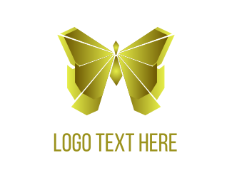 Fortune - Golden Butterfly logo design