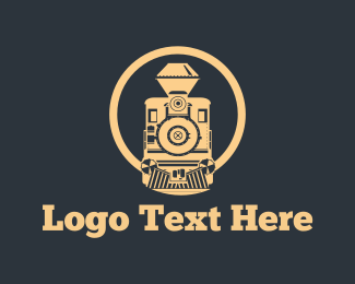 Railway - Vintage Train logo design