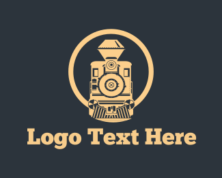 Traditional - Vintage Train logo design