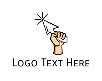 Pointer - Fist Cursor logo design