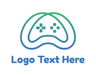 Gaming Community - Gradient Infinity Controller logo design