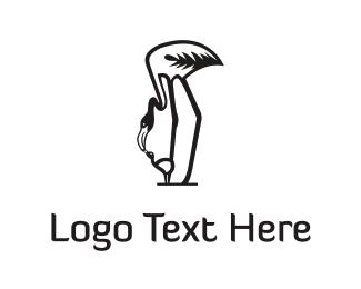 Mom - Mother Flamingo  logo design