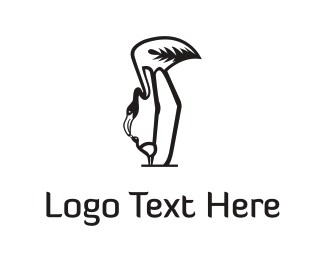 Mom - Mother Flamingo  logo design