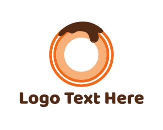 Doughnut - Chocolate Donut logo design