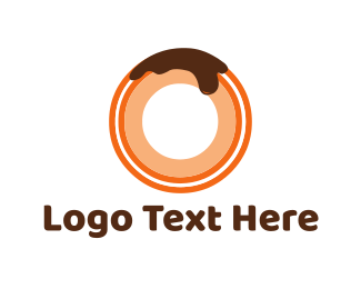 Donut - Chocolate Donut logo design