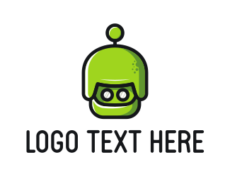 Antenna - Green Martian logo design