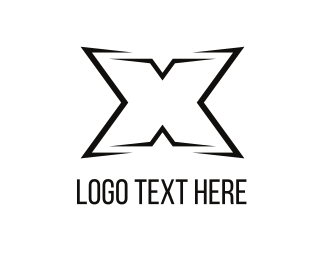 Hip Hop - Black Letter X logo design