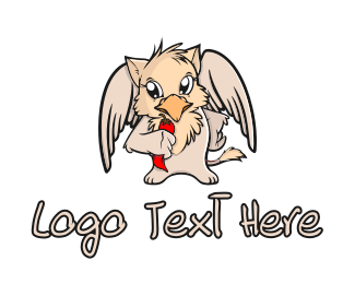 Mascot - Cute Griffin logo design