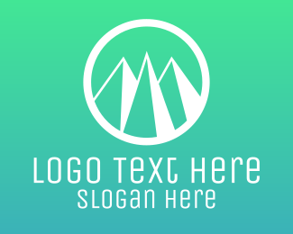 Outdoor - Mountain Circle logo design