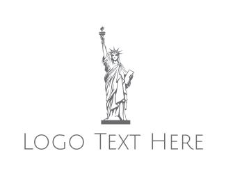 Ny - Gray Lady Liberty  logo design