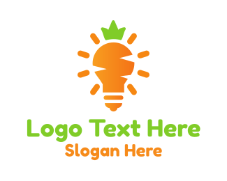 Veggie - Carrot Light logo design