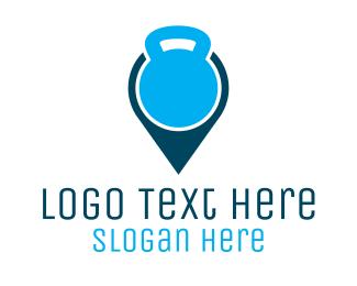 Gym - Gym Map logo design