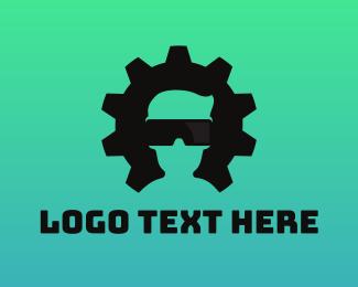 Machinery - Gear VR Gaming logo design