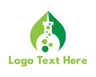 Test Tube - Eco Laboratory logo design