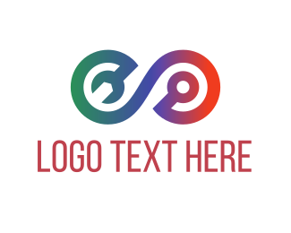 Screwdriver - Repair Tool Loop logo design