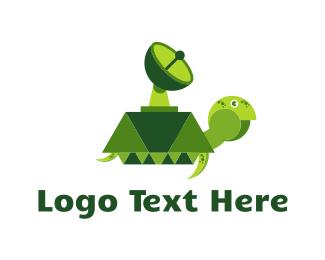 Tank - Radar Turtle logo design