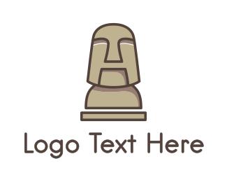 New Zealand - Stone Human Figure  logo design