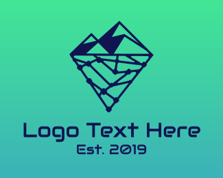 Database - Iceberg Technology logo design